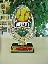 """High Quality Softball Trophies Free Lettering Team Color Added to Plate 7 1/2""""*"""