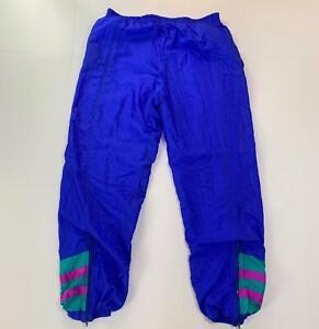 Men's Vintage 90s FILA Color Block Blue Green Windbreaker Track Suit Pants Sz 38
