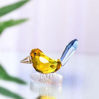 H&D Glass Yellow Bird Paperweight Cut Crystal Wedding Favor Ornament Birthday