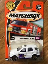 2002 MATCHBOX COOL RIDES SERIES MERCEDES-BENZ ML 430 White with 50 Years Logo