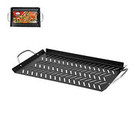 Alpine BBQ Grill Topper Pan Non-Stick Carbon Steel Outdoor Grill BIG 18x10