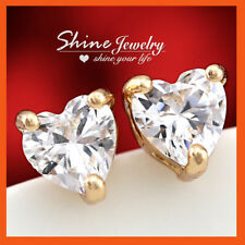 Love & Hearts Yellow Gold Filled Fashion Earrings