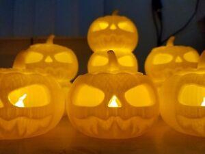 Jack O Lantern 3D Printed LED Tealight Candle Holder