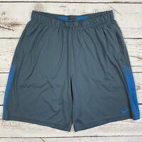 Nike Dri-Fit Men's Size L Athletic Training Running Shorts Gray/Blue 552745-481