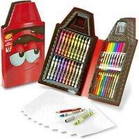 Crayola 50 Piece Art Case Red OR Pink Crayons Pencils Markers Sharpener Paper