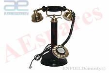 NEW ANTIQUE STYLE MAHARANI PHONE QUEEN TELEPHONE BLACK OLD VINTAGE @CAD