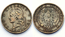 2 Centavos 1891 Argentina. Bronze. Qualité!