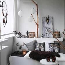 Brown sheepskin rug Genuine leather Sheep Skin Decorative Throw