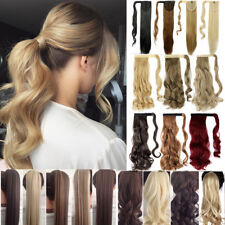 AU Clip In Ponytail Pony Tail Hair Extension Fake Hair Pieces Long curl wavy AI5