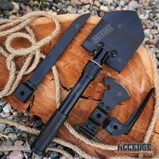 5 IN 1 MULTI PURPOSE SURVIVAL & RESCUE TOOL KIT - SHOVEL SAW SPEAR AXE HAMMER