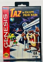 Taz in Escape From Mars (Sega Genesis, 1994) In Box Authentic, Tested And Works