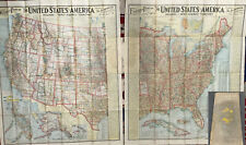 1903 Scarborough Eastern Western United States Large 2 Map Book Rare Antique Us