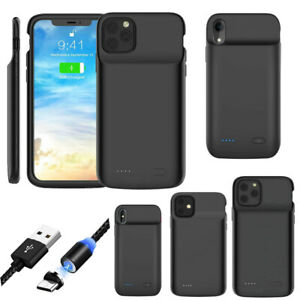 Battery Charging Case Cover Power Bank Lightning Cable For iPhone 11/11 Pro Max