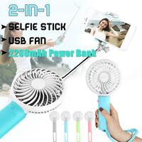 Mini USB Handheld Fan Portable Extendable Selfie Stick Cooling Fan 3 Speed   !