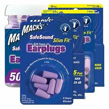 Macks Slim Fit Ear plugs Soft Foam Comfort Earplugs Noise Blocker Sleep Work