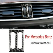 For Mercedes Benz C Class W204 Carbon Fiber Console Air Vent Outlet Knob Trim