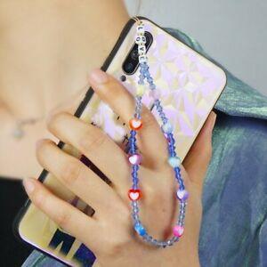 2021 Phone Camera Charm Lanyard Soft Ceramic Bead Cord Chain Women Keys Holder