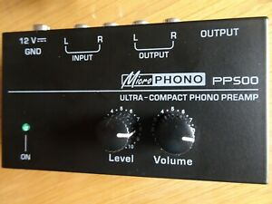 Plattenspieler Vorverstärker Phono Preamplifier Level & Volume Controls