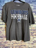 DALLAS COWBOYS SHIRT Cowboys Football 🏈 NFL Team Apparel Gray Hot 🔥Size Large