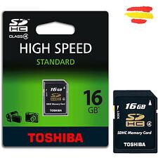 TARJETA MEMORIA 16GB TOSHIBA CLASE 4 SD HC  16 GB SDHC USB CAMARA