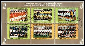 1970 YAR / YEMEN ARAB REPUBLIC Souvenir Sheet - Football World Cup - Mexico D2