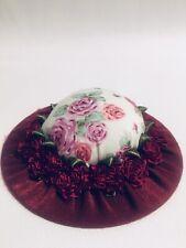 Handmade Whimsical Dainty Hat Design Pin Cushion: Design 8