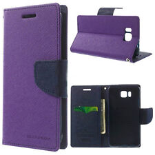 Korean Mercury Fancy Diary Wallet Case Cover for Samsung Galaxy Alpha - Purple