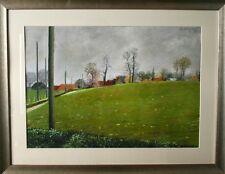 Loic DUBIGEON- Peinture originale - Gouache - Campagne Normande