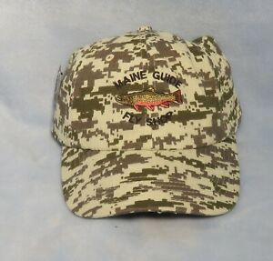 Maine Guide Fly Shop Logo Hat - Brook Trout - Digital Camo