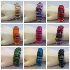 Wholesale 4 x Lovely Real Shell Stretch Bracelets - Mother Of Pearl Free UK Post