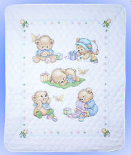 Cross Stitch Kit ~ Design Works / Tobin Cute Baby Bears Quilt or Cover #T21705
