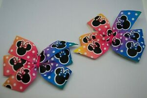 Toddlers Minnie Mouse Inspired 8cm Pinwheel Hair Clips