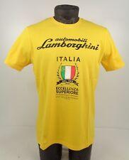 NEW GENUINE Lamborghini Mens Eccellenza Superiore Yellow T-Shirt S-L D1 LT3