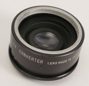 Vintage SEARS AUTO 2X CONVERTER Lens Made In JAPAN Screw Mount