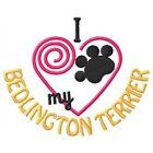 I Heart My Bedlington Terrier Ladies Short-Sleeved T-Shirt 1380-2 Size S - XXL