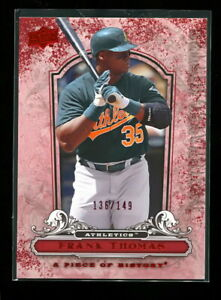 FRANK THOMAS 2008 UPPER DECK PIECE OF HISTORY RED #d 136/149