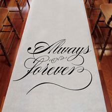 Always & Forever Wedding Aisle Runner White Weddingstar