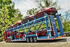 MNtrailers Limited Edition 8 Car Hauler Trailer 1:18 for MERCEDES ACTROS ELIGOR
