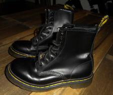 DOC MARTEN 8 hole Combat Boots BLACK LEATHER Dr Martens Womens Sz 38 UK 5 (US 7)