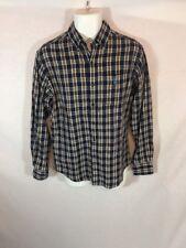 Men's U.S. POLO ASSN. Western Plaid Button Down Long Sleeve Shirt Casual SMALL