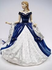 "$280 Royal Doulton Crystal Ball Midnight Sonata Figurine 8.6"" NIB"