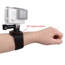 360 Degree Rotate Housing Case Wrist Strap Band Mount for GoPro Hero 4 2 3+ 3 1