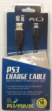 USB 2.0 PS3 CHARGING CABLE 10 FT LONG (A TO MINI B) HYPERKIN- Brand New- PA-201