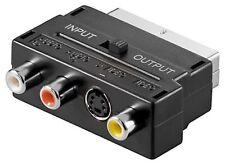 SVHS EUROCONECTOR Adapter 3 RCA en / Fuera Separable #M356