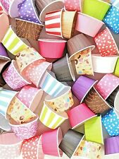 Pleated Baking Cups Cupcake Muffin Cases Polkadot Striped Metallic MEGA LISTING!
