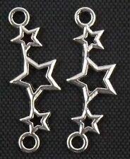 Free Ship 150Pcs Tibetan Silver Star Connectors 25x9mm