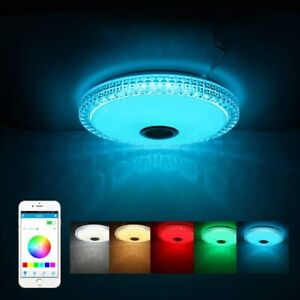 Led Ceiling Lights for Living Room, Bluetooth Ceiling Light with Speakers, 72W R