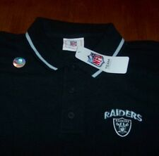 OAKLAND RAIDERS NFL FOOTBALL POLO T-Shirt LARGE NEW w/ TAG