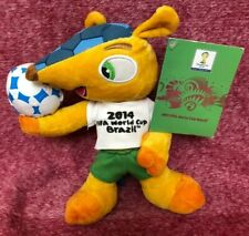 "Fuleco 2014 World Cup Mascot Brazil 10"" Soft Toy with Tags"