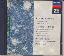 Lutoslawski, Szymanowski: Concertos, Symphonies (2 CDs, London) Like New